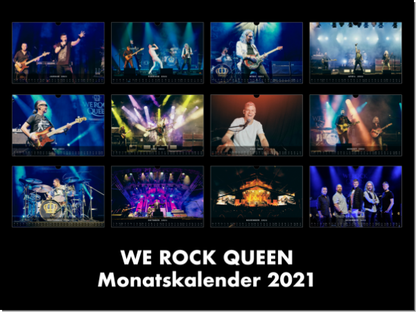 "WE ROCK Queen - Kalender + CD ""LIVE"""